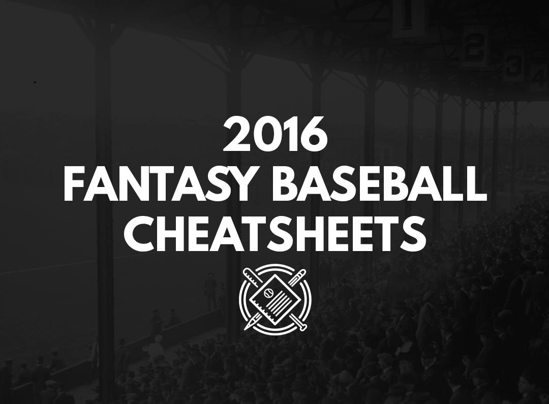 2016 Fantasy Baseball Draft Cheatsheets (Roto, Auction ...